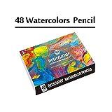 48/72/120/150/180 Lápices De Acuarela Lápiz De Colores De Madera Set Lapis De Cor Pintura Regalos For Los Niños La Escuela De Arte profesional (Color : 48Color Watercolor)