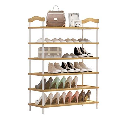 LYLY Zapatero de 6 niveles, organizador de almacenamiento para zapatos, 24 pares de zapatos para entrada, pasillo y armario