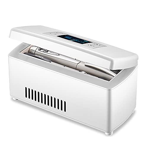 Yclty Refroidisseur D'Insuline Portable Mini Réfrigérateur Électrique Sac Isotherme Thermostat Inférieur avec Câble de Charge USB pour Les Voyages et Le Ménage