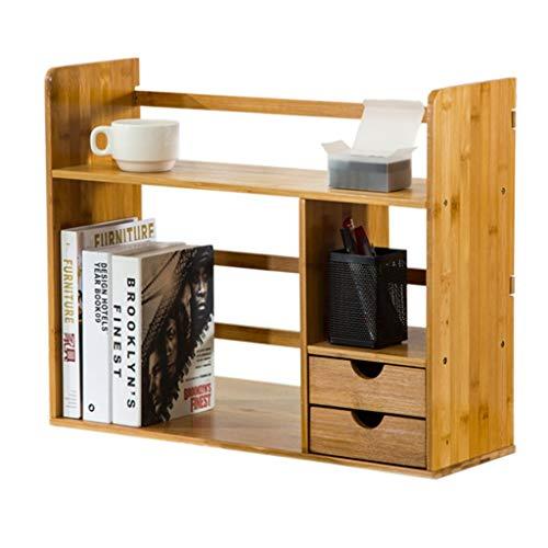 Bibliothèques Armoires, modules et étagères Étagère étagère étagère avec tiroir Simple Table Rack étudiant créative Bureau Bambou Stockage en Bois Bureau Petite