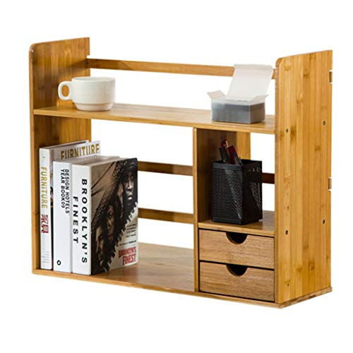 Armoires, modules et étagères Étagère étagère étagère avec tiroir simple table rack étudiant bibliothèque créative bureau bambou stockage en bois bureau petite bibliothèque