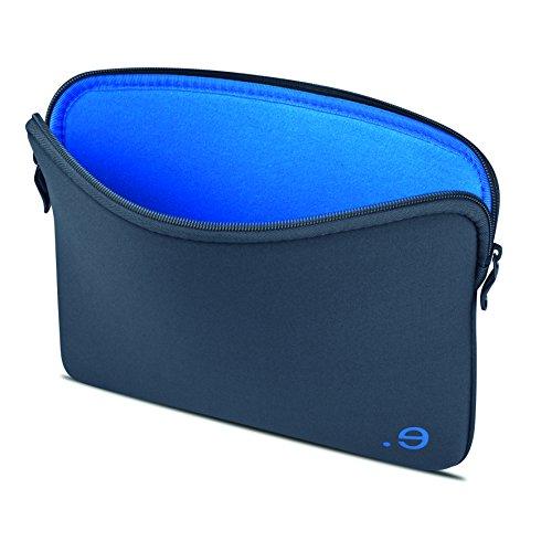 BE.EZ - Custodia per computer portatile da 15,6', con borsa da 14-15', per MacBook Chromebook, Ultrabook, Asus Acer Dell HP Lenovo, colore: Grigio/Blu
