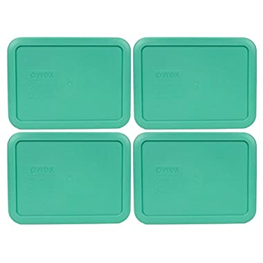 Pyrex 7210-PC Rectangle 3 Cup Storage Lid for Glass Dish (4, Light Green)