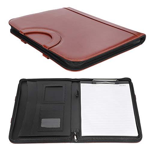 Cartella di gestione in pelle PU, cartella in pelle PU portatile a lunga durata per tablet e altri file A4/A5