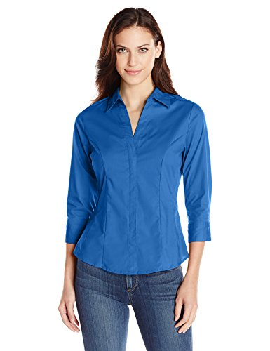 Riders by Lee Indigo Women's Bella Easy Care Woven Shirt, True Blue, XL
