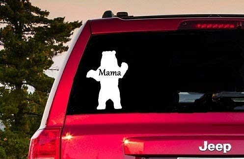 Lplpol Premium Anti-Staub Vinyl Aufkleber Mama Bär Fenster Aufkleber Mama Bear Decal Mama Bear Sticker Mama Bear Computer Mama Bear Laptop Sticker Mama Bear Sticker Mama Bear Tablet 15,2 cm