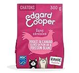 Edgard & Cooper Nourriture Naturelle pour Chatons sans Cereales Hypoallergénique, Poulet Frais élevé en Plein air, Alimentation Premium Saine complète et équilibrée (300 g)