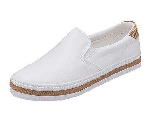 Shoppi New Women'S Fashion Flats Casual Comfortale Slip On Shoes Balck White Ladies Flat Platform Loafers 8.5