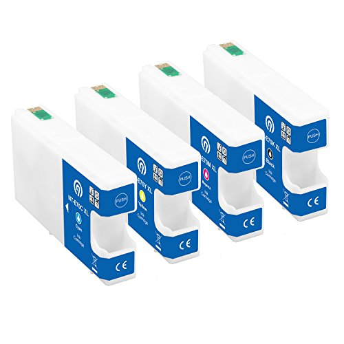 Farbset 4X Original NINETEC NT-4E70M Tintenpatronen kompatibel mit Epson T7011 T7012 T7013 T7014