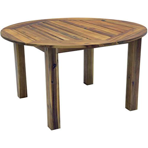 Lesli Living Lesli Living Gartentisch Esstisch Acacia Holz Teak Hartholz höhenverstellbarer Fuß 140 cm rund