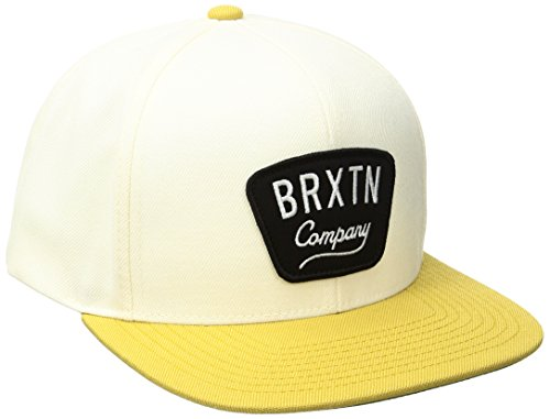 BRIXTON Herren Gaston Snapback Cap, Off White/Gold, One Size
