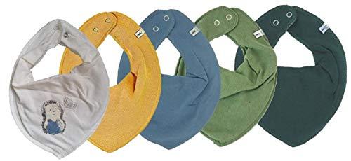 Pippi 4er Set ~ zur Auswahl ~ Baby Dreieckstuch Halstuch 4 Stück Organic Cotton + 1 GRATIS Tuch ~ 5er Pack (Boy Mix 8)