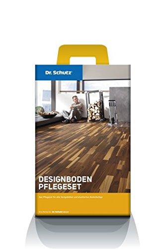 Dr. Schutz Designboden Pflegeset für Vinyl-Bodenbeläge PU Reiniger + Vollpflege, Reinigungs- und Schutz-Set für PVC, Vinyl und Linoleum