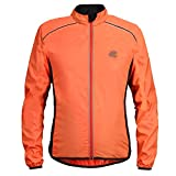 Radfahren MTB Windjacke Mit Reflektorstreifen Langarm Racing Windjacke Mantel Herbst S-4XL (Color : Orange, Size : L)