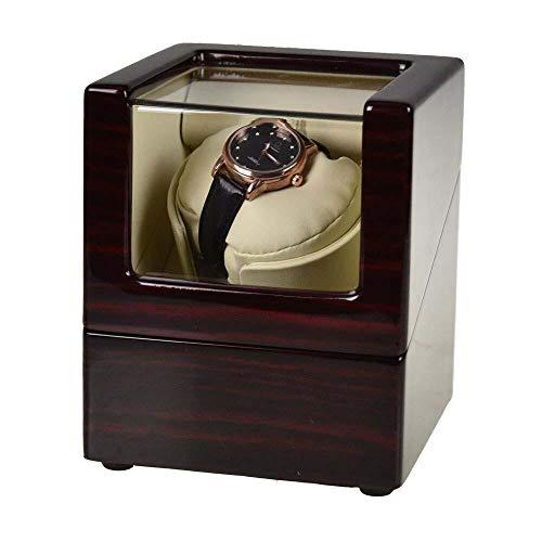 Neueste Double Uhrenbeweger Box Dual Uhren Rotation Aufbewahrungskoffer Display Box für automatische mechanische Uhren-Schwarzer roter innerer Reis_europäischer Stil
