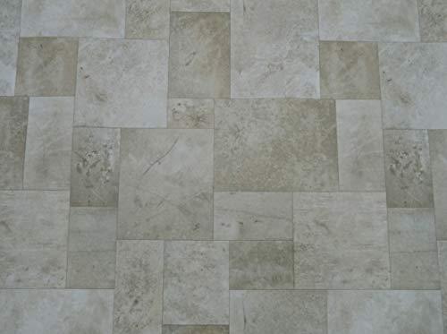 PVC Bodenbelag in natürlichem Fliesen-Design (12,95€/m²), Zuschnitt (5m breit, 5m lang)