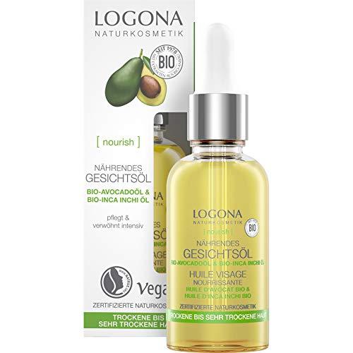 LOGONA Naturkosmetik Vitalisierendes Gesichtsöl, Intensive & nährende Ergänzungspflege, Fördert die Zellerneuerung, Vegan, 30ml