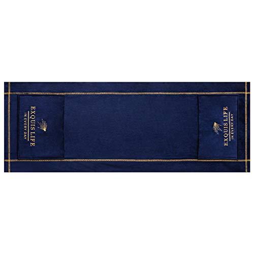 POHOVE Hotte de four à micro-ondes Broderie anti-poussière nordique universelle à l'huile avec poches de rangement Accessoires de décoration d'intérieur Bureau (bleu)