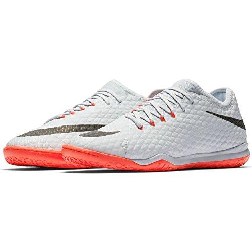 Nike Hypervenomx Finale II Innen Erwachsene Fußball Stiefel 45.5–Fußballschuh (Innenraum, Erwachsener, männlich, für Innen Sohle, schwarz, orange, Platin, Einfarbig)