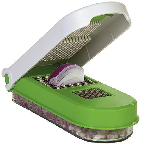 Prepworks GFNC-3 – Cortador de tuercas, Picador de cebolla y ajo, Transparente/Verde, 1