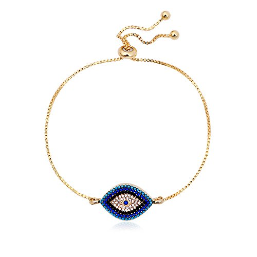 SENFAI Classics Evil Eye Adjustable Bracelet with Yellow Gift Box (1-1)