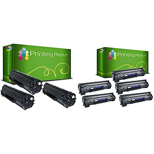 Printing Pleasure 2 Compatibles CE285A 85A Cartuchos de tóner para HP Laserjet Pro + 2 Compatibles CF283A 83A Cartuchos de tóner para HP Laserjet Pro