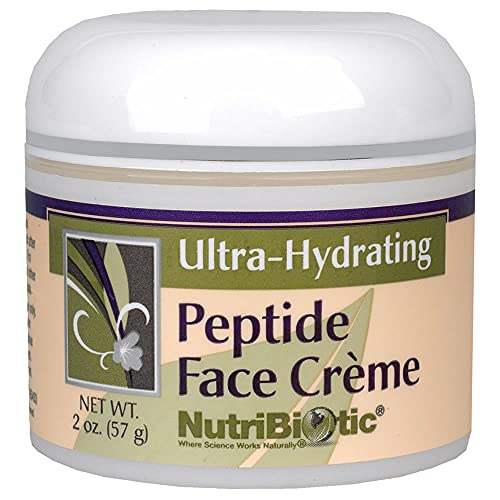 NutriBiotic – Peptide Face Creme with GSE, 2 Oz | Ultra-Hydrating | Collagen Synthesis Support | with Botanical Extracts & Oils & Vitamin E | Natural Fragrance & Paraben Free