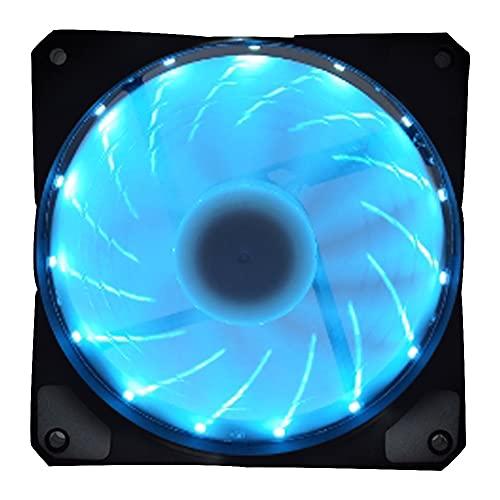 CPU Cooler Fan 15 LED PC Caja de la computadora Disipador de Calor Mini portátil Ultra silencioso Radiador de refrigeración Ventilador de refrigeración para Escritorio Oficina Hogar