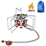 Bulin 5800W Ultralight Windproof Camping Gas Stove, Portable Small Mini Backpacking Hiking Stove Burner, Lightweight Outdoor Backpacking Stove Propane Butane, Heavy Duty Support Up to 25KG