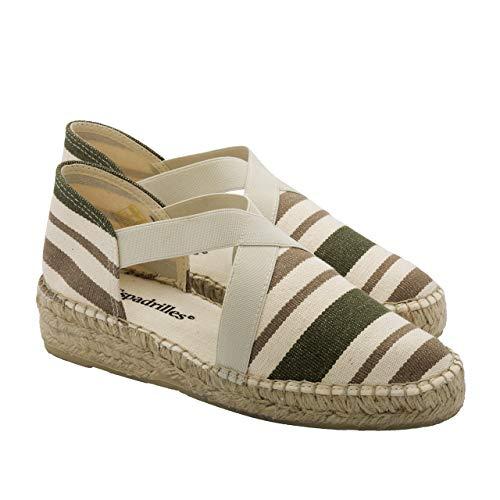 2 Espadrilles - Alpargatas Fabricadas a Mano en España Espadrilles Esparto Zapato para Mujer Tacón Montse