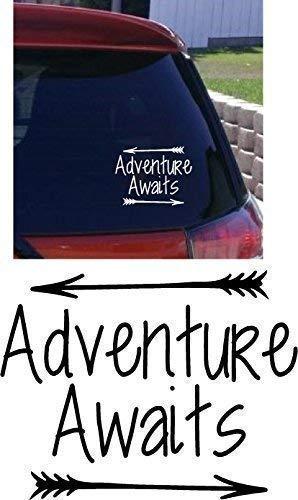 Online Design Adventure Awaits Voiture Autocollant Pare-Choc Vinyl Camping-Car Voyage Camping-Car