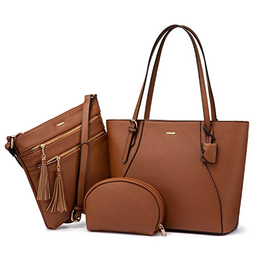 LOVEVOOK Handbags for Women Tote Bag Shoulder Bag Top Handle Satchel Purse Set 3pcs