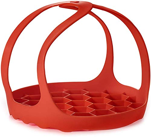 Silicone Trivet For Instant Pot | Fits 6,8 Qt Instapot, Ninja Foodi and Other Pressure Cookers | 3 in 1 - Bakeware Pan Sling Lifter, Egg Rack, and Roasting Rack