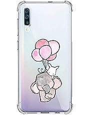 Oihxse Silicona Funda con Xiaomi Mi 9/9X TPU Flexible Suave Transparente Protector Estuche Airbag Esquinas Reforzadas Ultra-Delgado Elefante Patrón Anti-Choque Caso (D7)