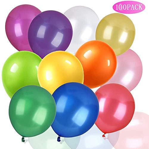 CKANDAY 100 Party-Luftballons, Starke Latex-Luftballons für Helium oder Luft, Geburtstagsparty, Hochzeit, Vorschlag, Jahrestag, Halloween, Thanksgiving Day und Weihnachten, 30,5 cm