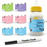 The Original Write and Reuse Baby Bottle Labels for Daycare -...