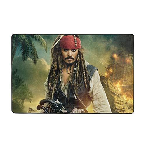 Alfombras de piratas del Caribe Alfombras para puerta de casa, antideslizante de entrada, 60 x 39 pulgadas