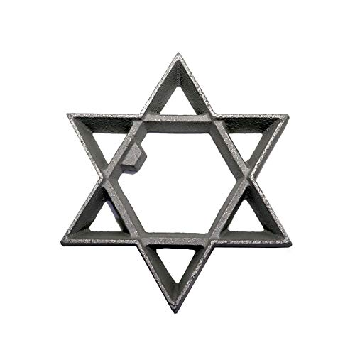 Kitchen Supply Cast-Aluminum Rosette-Iron Mold Star of David 3-14 Inch Point to Opposite Point x 58 Inch High