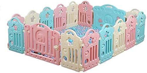 Faltbarer Kompakter Babyspielzaun - Babyschloss-Spielstiftzaun - Aktivit center Für Baby-Sicherheitsspiele - Tragbarer Raumteiler Kind Kinder Barriere (Größe   16 Panels - 155x192x6cm)