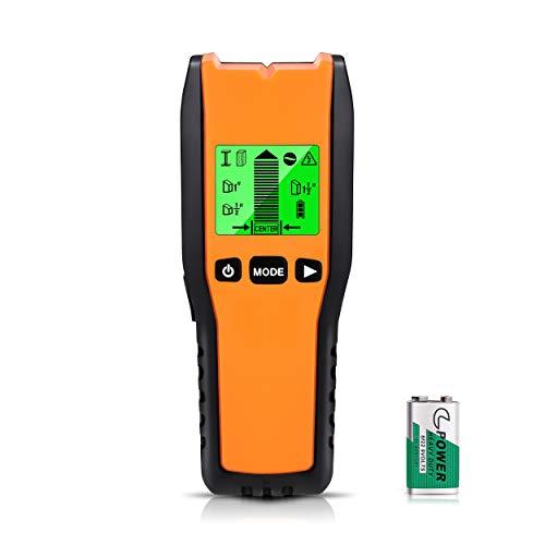 Escáner de pared con sensor de perno electrónico 5 en 1, buscadores de vigas de detector de pared, centro de búsqueda con pantalla LCD para madera, alambre de CA, pernos de metal, detección de vigas