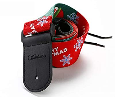Christmas Wrapping Paper Guitar Strap