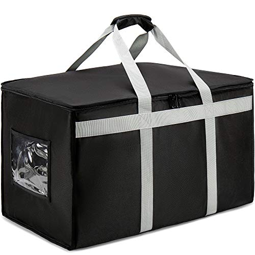 """DERABY Insulated Food Delivery Bag Carrier XXXL 23""""x15""""x14"""" Commercial Grade (Chafing Dish, Warming Tray, Grocery, Lunch Containers, Pizza, Casserole)"""