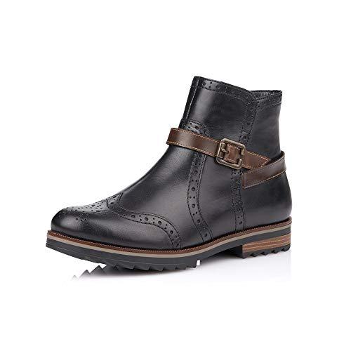 Remonte Damenschuhe R2278 Damen Stiefel, Boots, Schlupfstiefel schwarz Kombi (schwarz/Kastanie /...