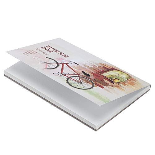 Maquer Bloc de papel de acuarela de papel de lápiz soluble, almohadilla de papel de dibujo, para pinturas de acuarela para lápiz de colores soluble en agua (pequeño)