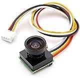 XHUENG 600TVL 1/4 1.8mm CMOS FPV 170 Grados Cámara de Lente Gran Angular PAL NTSC 3.7-5V para RC...
