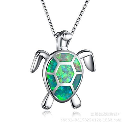 Adaye Sea Turtle Necklace,Set Off Your Beauty (Green)
