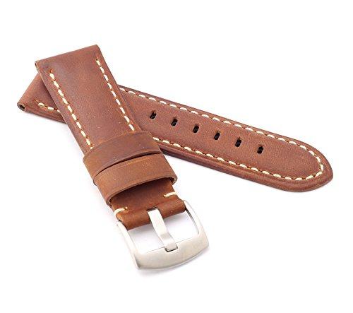 BOB Unisex Uhrenarmband Wildleder Modell Firenze 24 mm braun