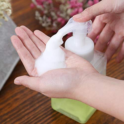 döschenflaschen setJapanische Split-Flasche Reise tragbare Presse Sprühblase Flasche 400ML-400ML Entenschnabel Flasche transparent