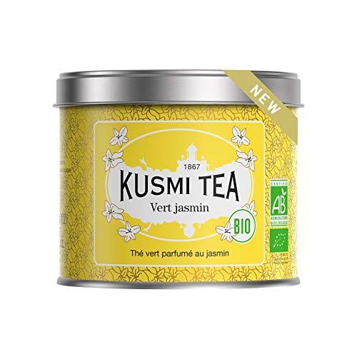 Kusmi Tea - Grüner Tee BIO mit Jasminblüten, aromatisiert - 90 g Metall Teedose (etwa 40 Tassen)