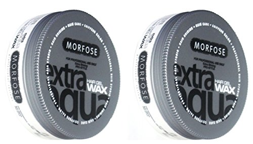 Morfose Extra Aqua Hair Wax - Cera para el cabello (2 unidades, aroma a chicle, 175 ml)